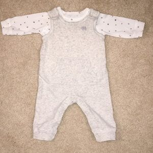 Carters Romper with Shirt  (2 piece)